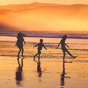 Beach sunset Wallpaper