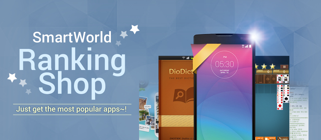 [SmartWorld Ranking Shop] Just get the most popular apps~!